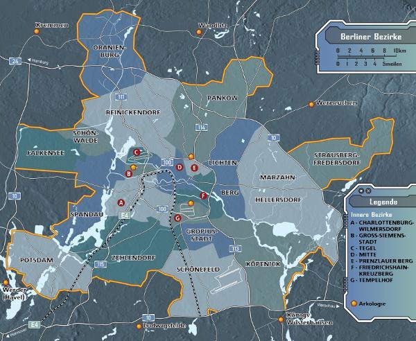 Stadtplan Berlin in Farbe